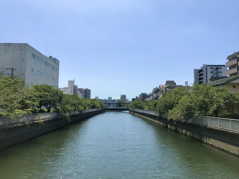 福壽橋上からみた南側風景