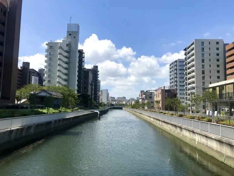 崎川橋の西側
