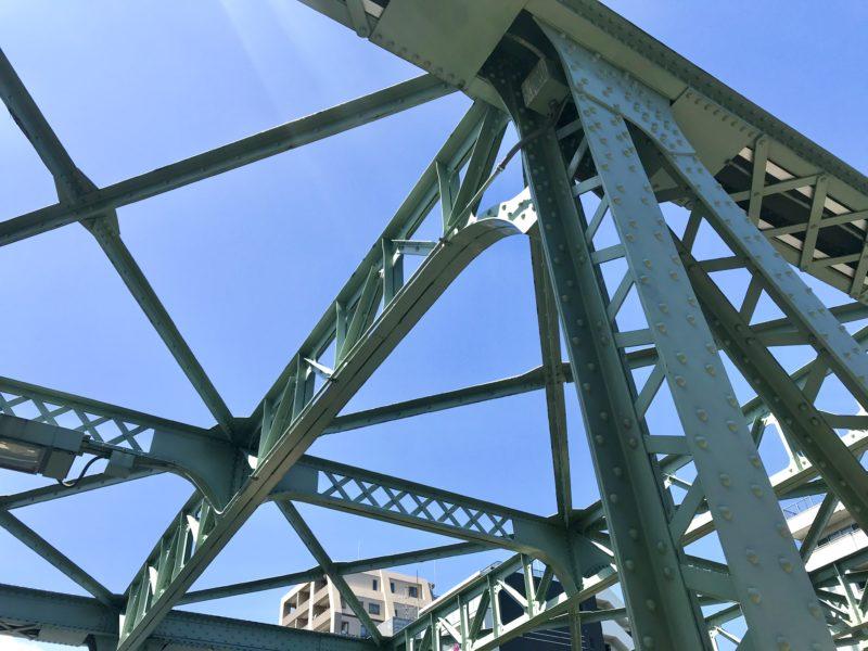 東富橋の鋼鉄トラス