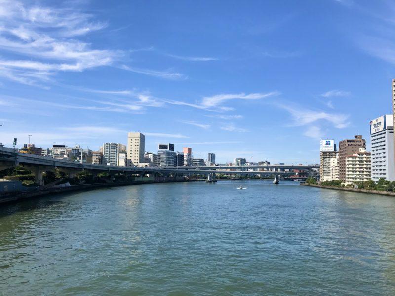 新大橋からの眺め