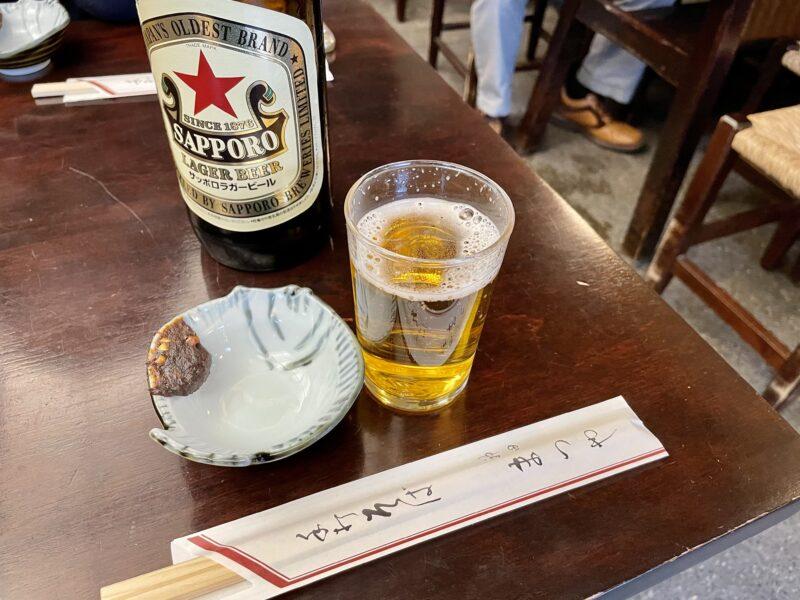 神田まつや 赤星と蕎麦味噌