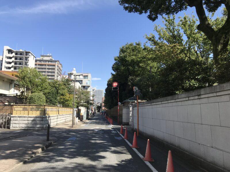 清澄庭園脇の道路