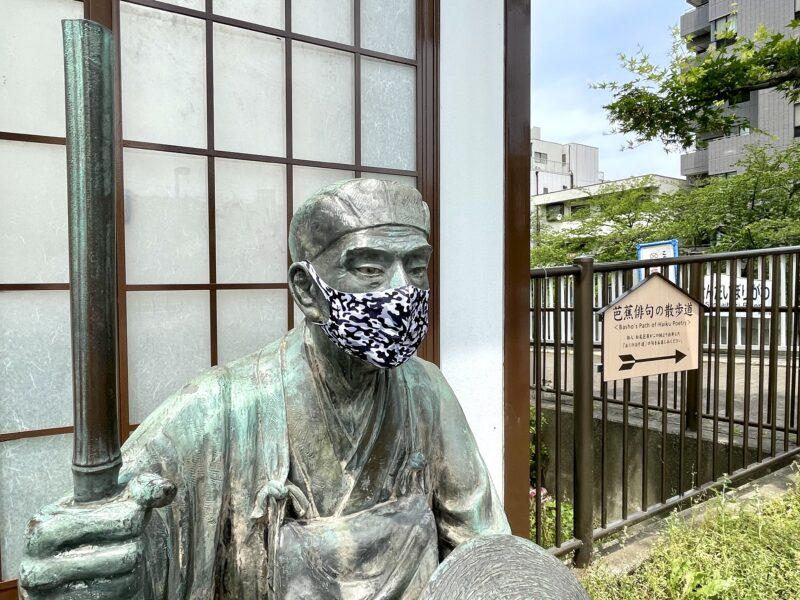 採荼庵跡_松尾芭蕉像